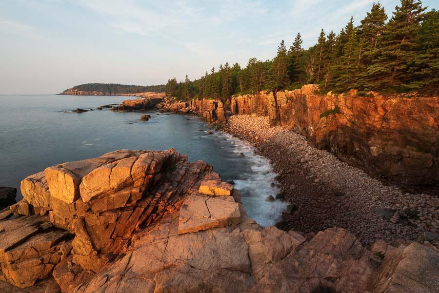 Acadian coast at dawn.