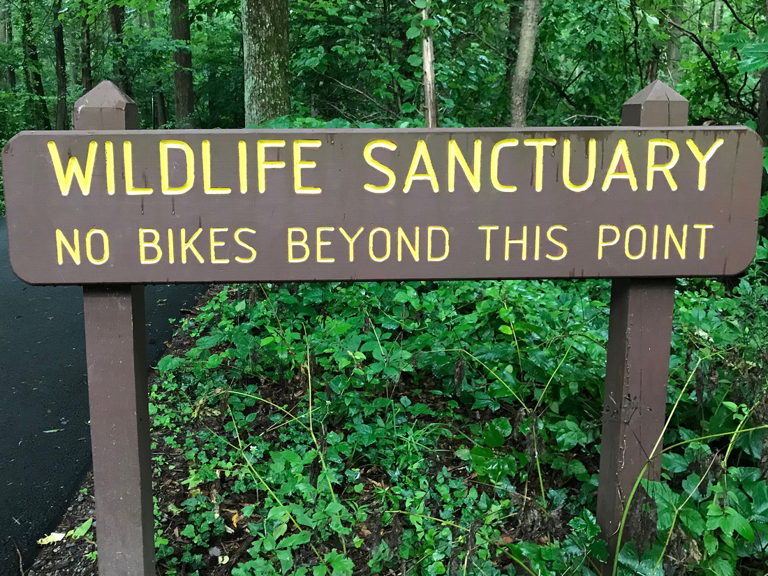 Entering a Wildlife Sanctuary sign