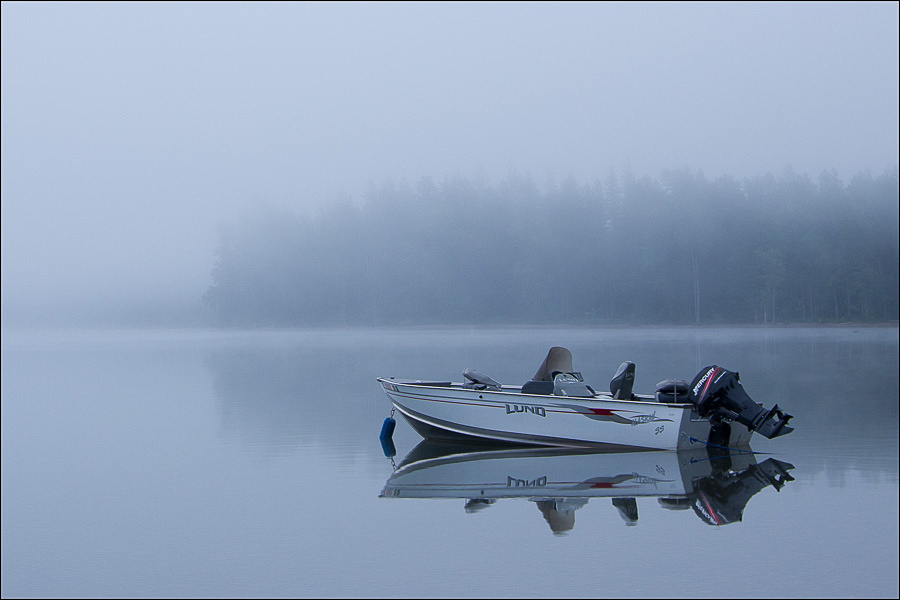 Fog on Lake MacDonald